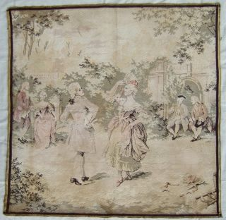Gorgeous Antique 19th Century French Panneaux Tapestry Wall Hanging - Les Danseurs photo