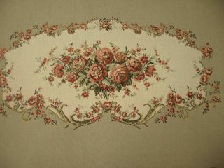 Louis Xv Loveseat Settee Tapestry (back) French Gobelin Needlepoint Fabric photo