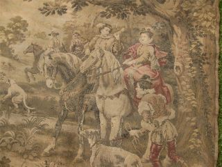 A Large Antique French Wool Tapestry After Cesare Auguste Detti photo