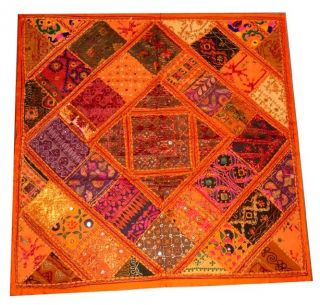 Gujrati Banzara Kuch Beds Zari Mirror Worked Wall,  Table Tapstry Throw 40