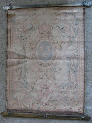 Antique 17th C 1680 Charles Le Brun Gobelin French Panneaux Tapestry Wall Hangn photo
