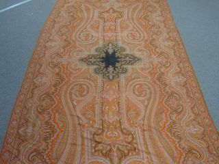 Antique Victorian Cashmere Kashmir Paisley Shawl - Patchwork & Embroidery photo