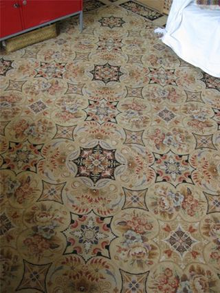 19th Century French Aubusson Needlepoint Rug Carpet - 11 ' 10