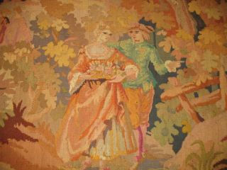 Antique 20th Century Belgium Tapestry Handloomed 6x7 photo