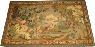 Antique 19th Century French Tapestry Size 3x5 photo