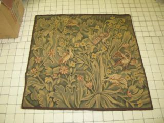 Antique Flemish Tapestry Silk & Wool 32