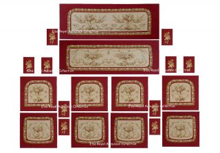 20pcs Handwoven French Aubusson Upholstery Salon Suit photo