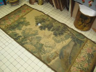 Antique Flemish Tapestry Silk & Wool 30