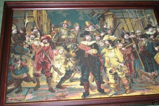 A Large Fine Handmade Needle Work From The Night Watch photo