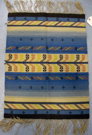 Rare Handwoven Wall Hanging Circa 1930 From Sweden photo