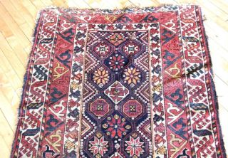 Very Early & Extremely Rare Persian Lori Luri Luristan Nomadic Rug Carpet 38x66
