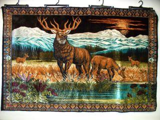 4 ' X 6 ' Rare Scenic Wildlife Antique Lebanese Tapestry photo