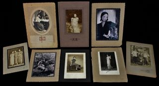 Estate Coll.  Antique Chinese Maiden Girl Album Photographs Pictures photo