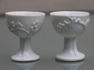 A Two Antique Chinese Blanc De Chine Cups,  18th Century. photo