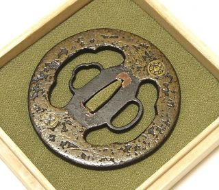 ◆tsuba◆ - Fukiyose - Brass Inlaying Colorful 79mm Box photo
