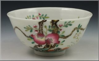 Fine Antique Chinese Famille Rose Bowl Xianfeng Mark & Period photo
