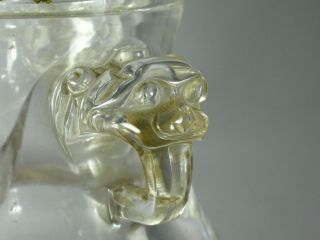 Fine 18th C.  - 19th C.  Chinese Rock Crystal Vase With Foo Lion Handles Lamp photo