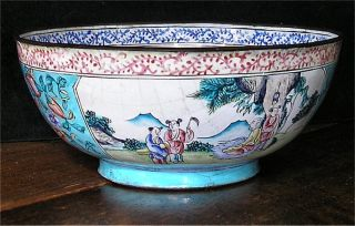 Very Rare 18th Century Japanese Or Chinese Cloisonne Copper Enamelled Bowl photo