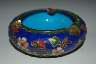 Old Chinese Cloisonne Censer Description Flowers photo