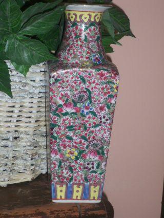 Signed Hand Painted Porcelain Vase photo