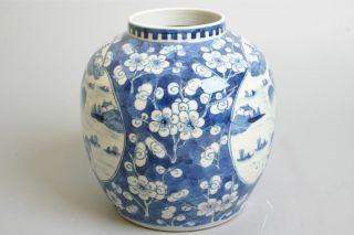 Perfect Chinese Porcelain Vase.  19th C,  Marked,  plumtree & Landscape. photo