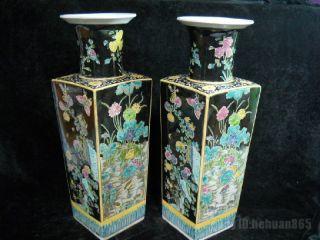 Fine Chinese Su San Cai Porcelain Vase Pair photo