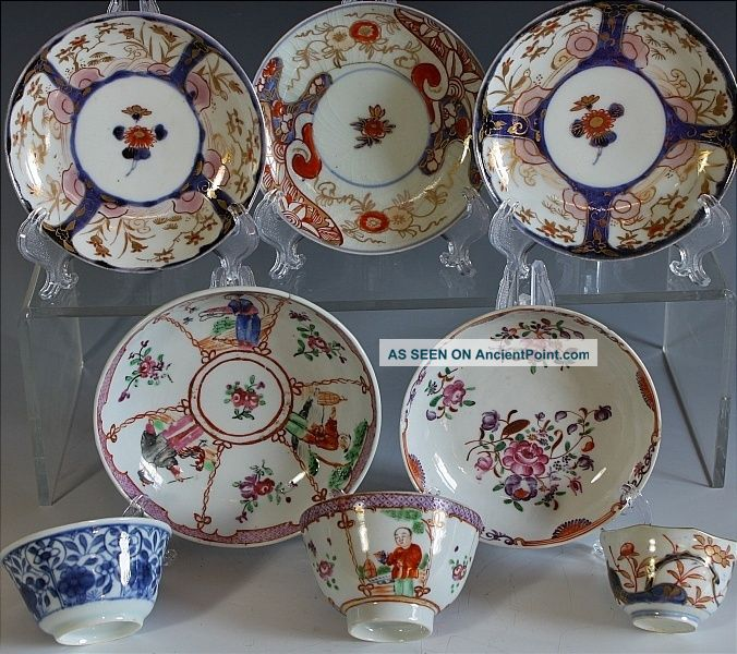 Estate Coll Chinese Qianlong Kangxi Blue White Export Tea Bowls Wine Cups Dishes Vases photo