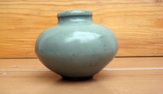 Antique Chinese 13/14c Asian Song Ming Dynasty Celadon Crackle Vase photo