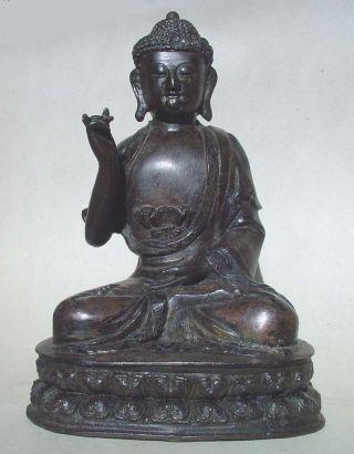 Large Antique Chinese Bronze Buddha photo