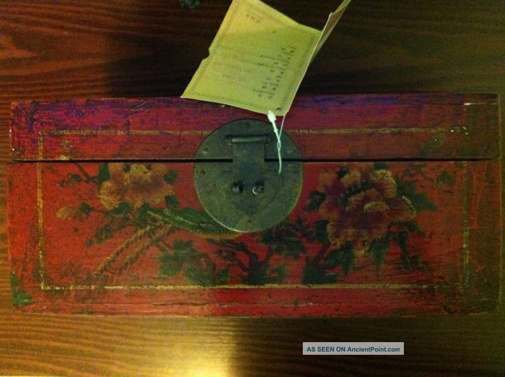 92 Year Old Shandong Chinese Antique Box Boxes photo