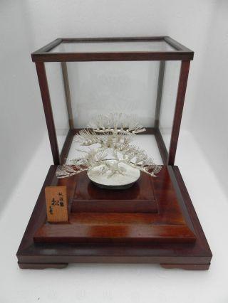 Masterly Hand Crafted Japanese Sterling Silver Pine Bonsai Tree Mitsunori Japan photo