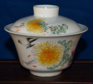 A Very Fine Antique Chinese Porcelain Tea Bowl Signed With A Poem photo