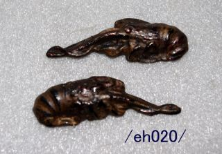 Rare Menuki For Samurai Katana,  Cuttlefish,  Copper,  Edo/eh020/ photo