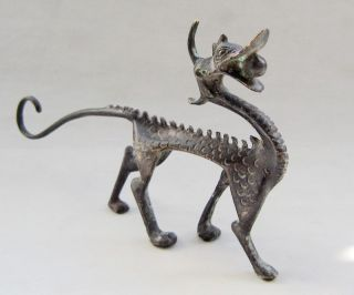 Antique Chinese Bronze Dragon Statue Nr photo