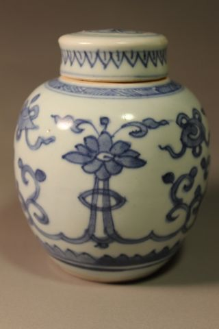 Rare Blue & White Vase In Kangxi Period photo