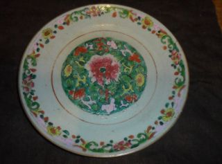 Stunning 18th Century Famille Verte Chinese Enamelled Porcelain Plate photo