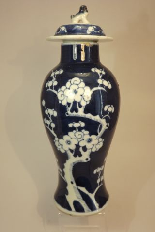 An Antique Chinese Prunus Vase With Lid photo