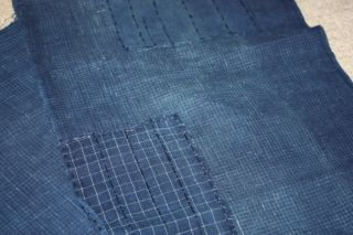 Japanese Old Antique Indigo Borotattered Hand Sashiko Patchwork Textile1900 - 1940 photo