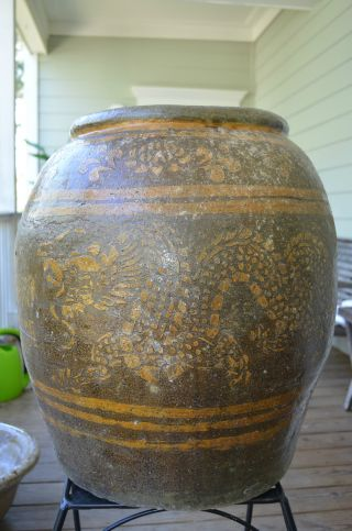 Korean Dragon Pot,  Pottery photo