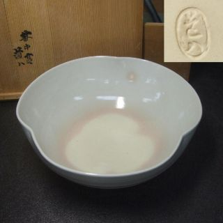 F142: Japanese Kyoto Pottery Tea - Thing Bowl By Great Dohachi Takahashi.  With Box photo