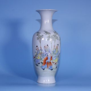 A Wonderful Perfect Chinese Porcelain Republic Famille Rose Vase photo