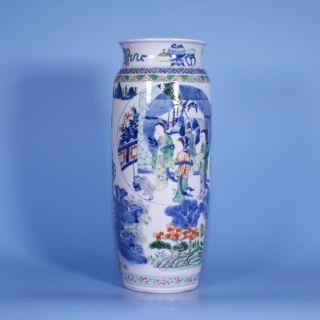 A Wonderful Chinese Porcelain 19th Century Wucai Vase photo