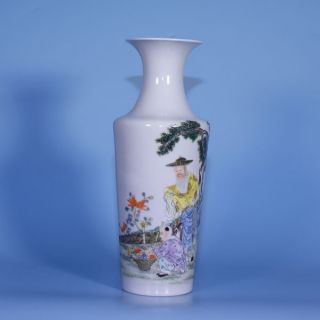 A Perfect Chinese Porcelain Republic Early 20th Ct Famille Rose Vase photo