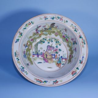 A Perfect 19th Century Chinese Porcelain Famille Rose Basin photo
