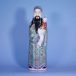 A Large Perfect Republic Chinese Porcelain Famille Rose Figure photo