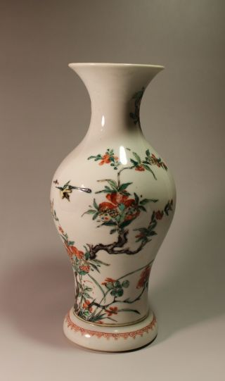 Famille Rose Bird And Flower Vase,  18th Qing Dynasty photo