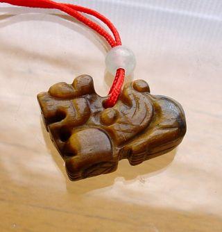 Rare China Grainy - Jade Pendant Carved With Kylin Shape photo
