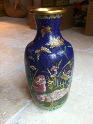 Antique Cloisonne Vase China photo