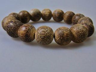 Natural Indonesia Agarwood Prayer Beads 15mm 23.  9g photo