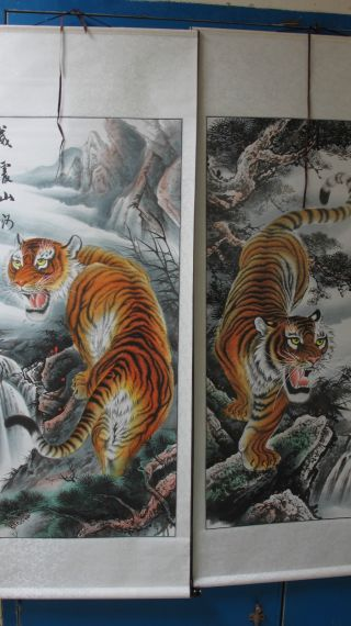 Chinese Two Hand Painted Scroll